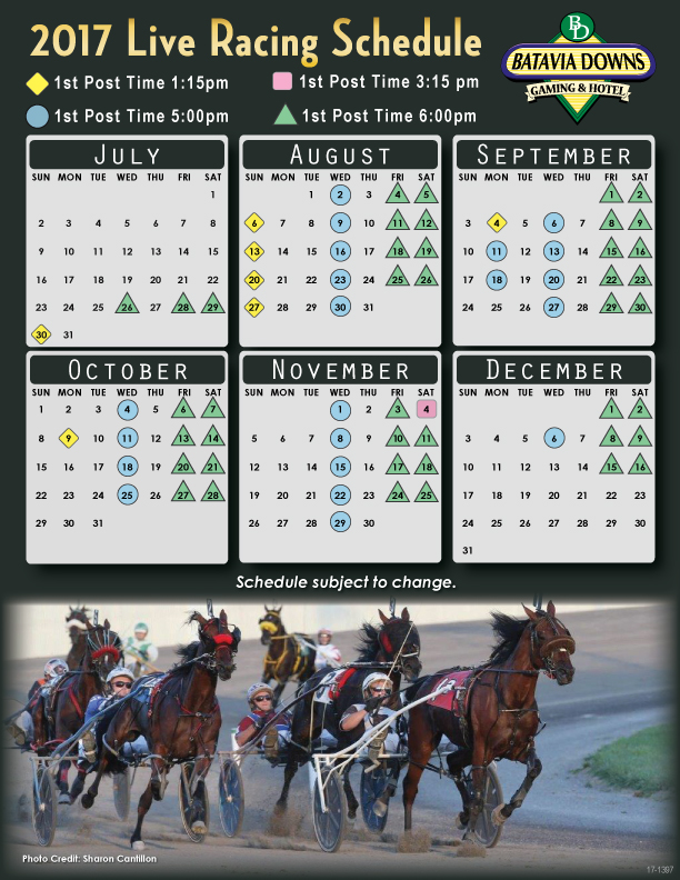 Century Downs Horse Racing Schedule